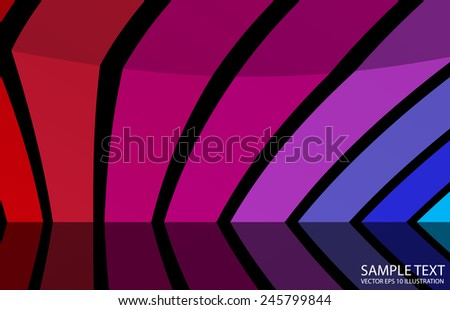 Colorful abstract vector design background illustration - Vector color lined abstract background template - stock vector