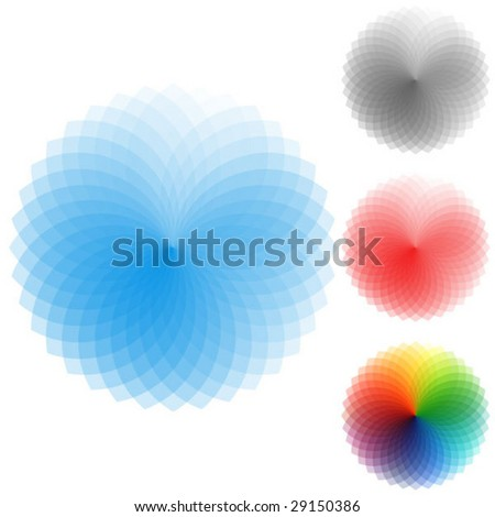 Colorful abstract vector elements - stock vector