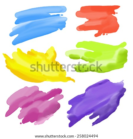 colorful Abstract Watercolor elements for design. Vector illustration - stock vector