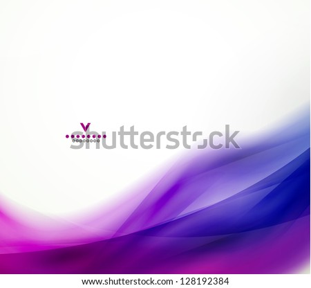 Colorful abstract wave design template - stock vector