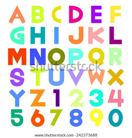 colorful alphabet illustration eps10 - stock vector
