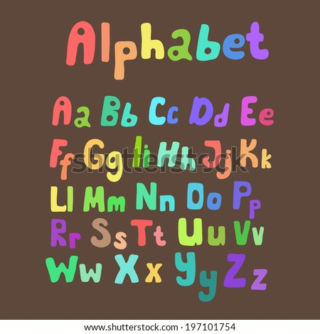 Colorful alphabet made in vector. ABC for your design