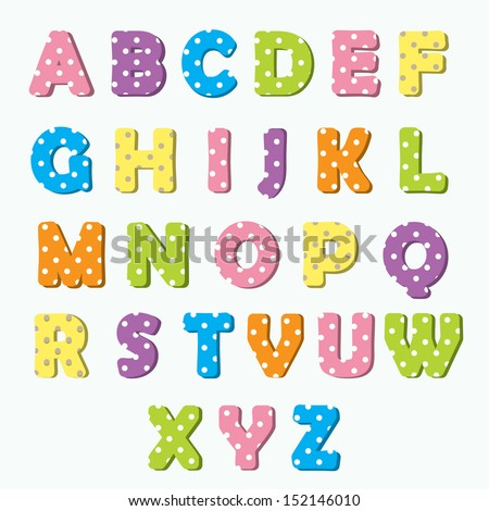 Colorful alphabet set for your announcement text.  - stock vector