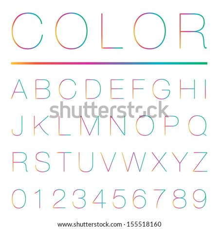 Colorful alphabet (uppercase) , Vector illustration. - stock vector