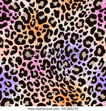 colorful animal print ~ seamless background - stock vector