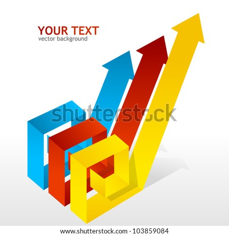 Colorful arrow - stock vector