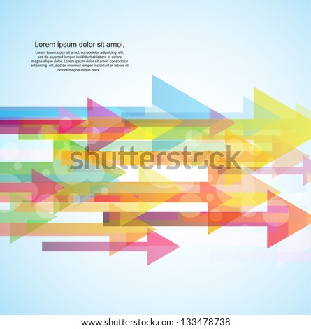 colorful arrow background - stock vector