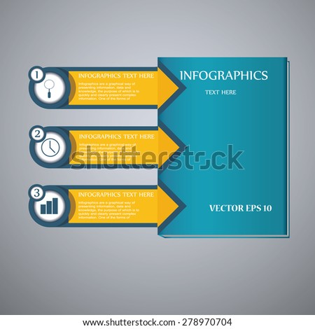 Colorful arrow number options banner. Vector illustration. can be used for workflow layout, diagram, web design, infographics. - stock vector