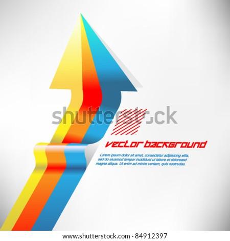 colorful arrow ribbon vector - stock vector