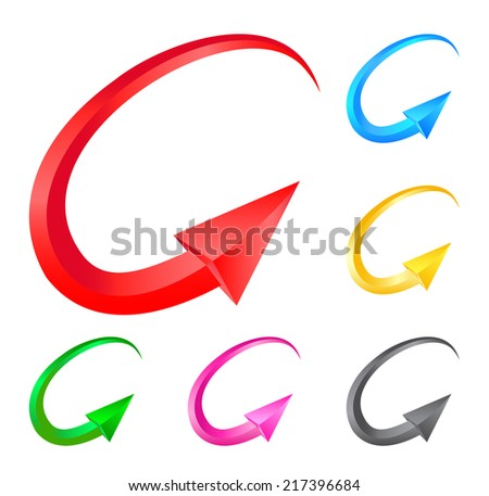 Colorful arrows. Illustration for design on white background.Vector illustration - stock vector