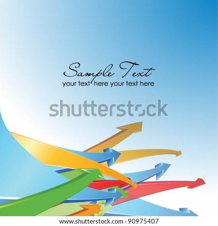 colorful arrows vector background - stock vector