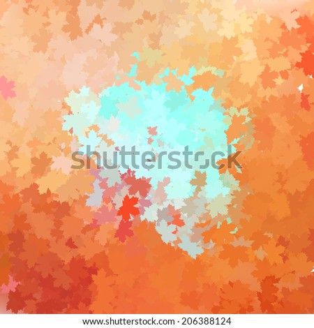 Colorful autumn background. Fall background with season pastel colors.  - stock vector