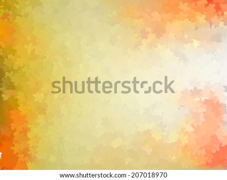 Colorful autumn leaves template pattern. And also includes EPS 10 vector - stock vector