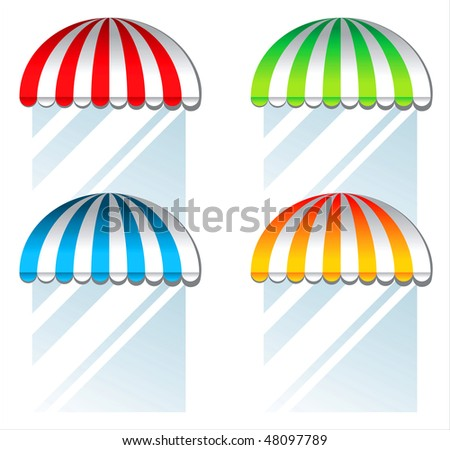 colorful awnings - stock vector