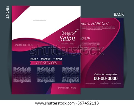 Beauty Salon Brochure Images Stock Photos  Vectors  Shutterstock