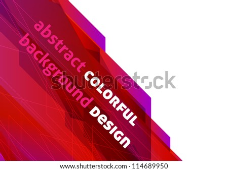 Colorful background design (eps10) - stock vector