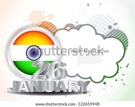 colorful background for Indian republic day. vector illustration. - stock vector