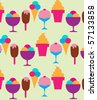 colorful background of different ice-creams, vector illustration - stock photo