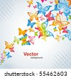 Colorful background with butterfly. Vector. - stock vector