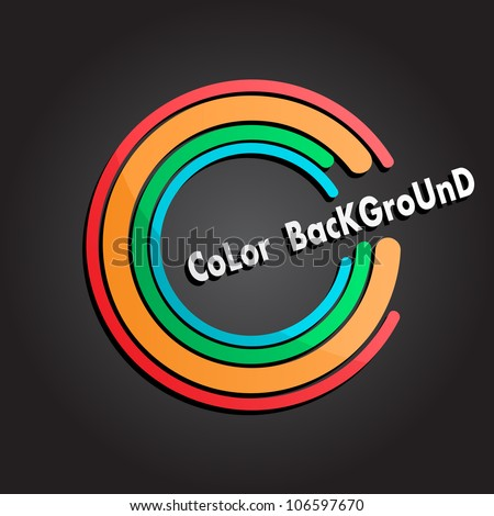 Colorful background with lines different colors - stock vector