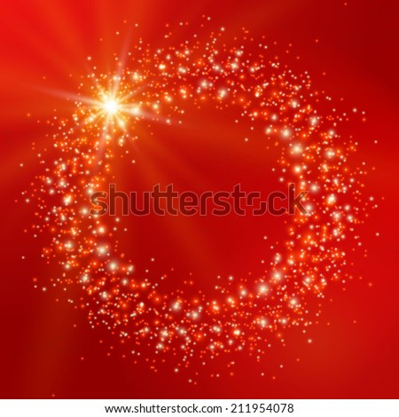 Colorful background with stars and lights. Vector illustration - stock vector