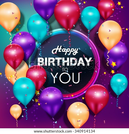 Purple balloons stock images royalty free images - Happy birthday balloon images hd ...