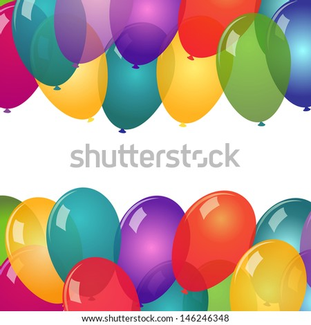 Colorful balloons on white background - stock vector