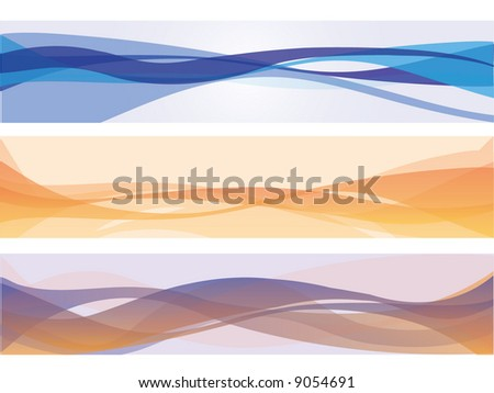 colorful banners - stock vector
