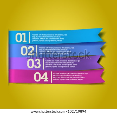 Colorful banners - ribbons / Elements  for infographics, graphic design or web banners - stock vector