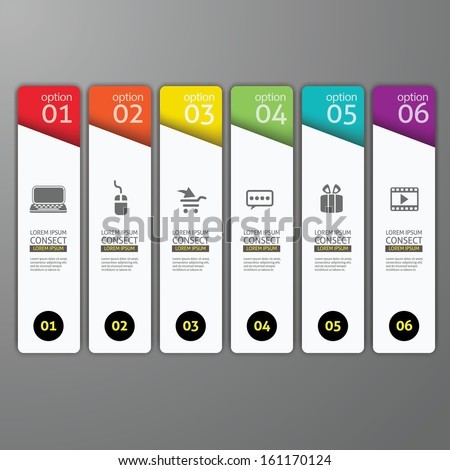 colorful banners template for step presentation / can be used for infographics, business design or workflow layuot