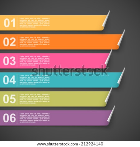 Colorful banners with options. - stock vector