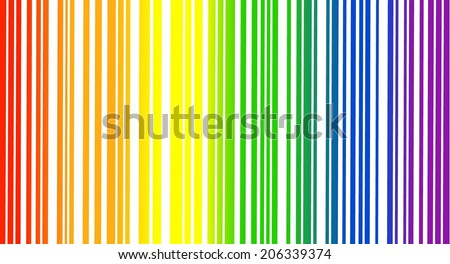 Colorful bar code texture. Abstract rainbow curved lines, geometric patter in different color, vector art image illustration background, eps10 - stock vector