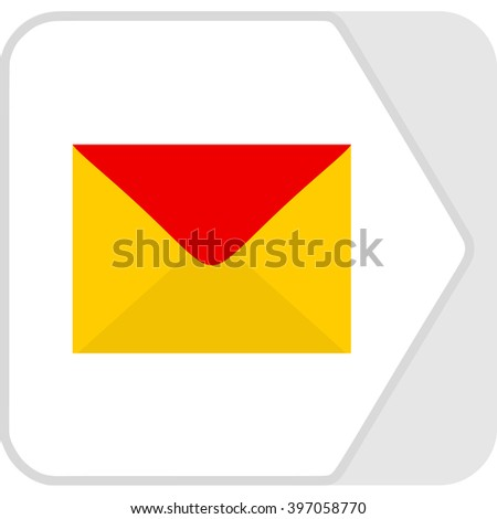 Colorful beautiful envelope mail icon for web design. Flat abstract logo design style. Vector illustration - stock vector