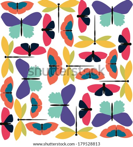 Colorful big butterfly pattern