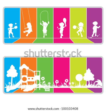 colorful billboard background for kids or fun theme - stock vector