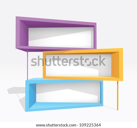 colorful billboards - stock vector