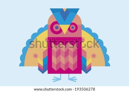 Colorful Bird - stock vector