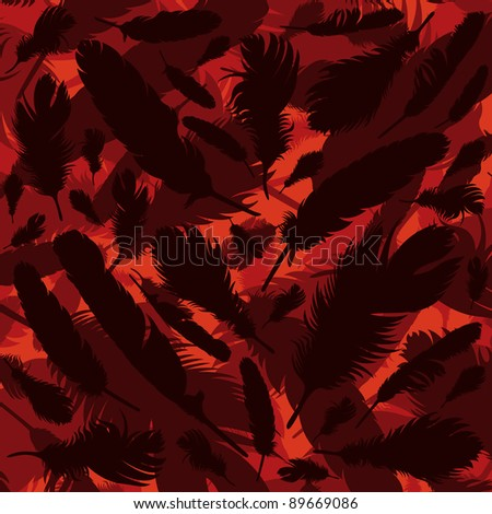 Colorful bird feathers background illustration - stock vector