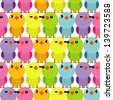 Colorful birds seamless pattern - stock vector