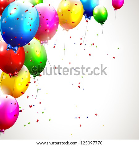 Colorful birthday background - stock vector