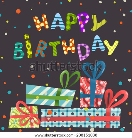 Colorful Birthday Background. Vector Illustration. Eps 10 - stock vector