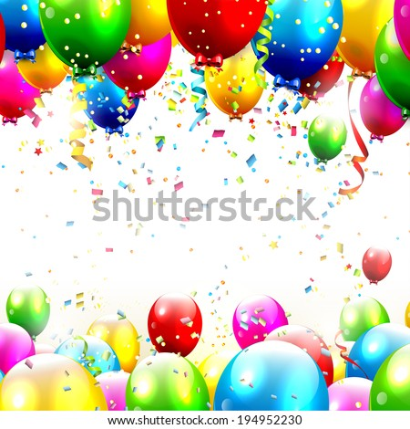Colorful birthday background with place for text  - stock vector