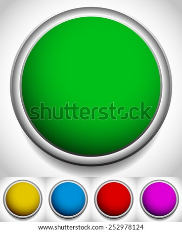 Colorful blank circles with frames, borders. - stock vector