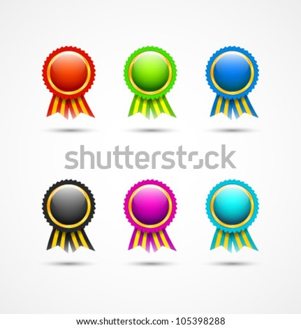 Colorful blank labels for your business artwork - stock vector