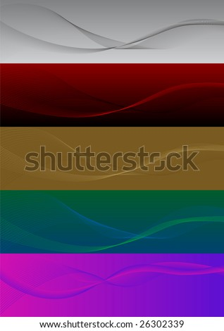 Colorful blend banners