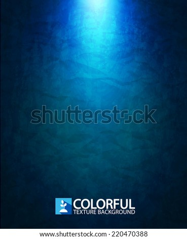 Colorful blue light abstract background. Vector illustration - stock vector