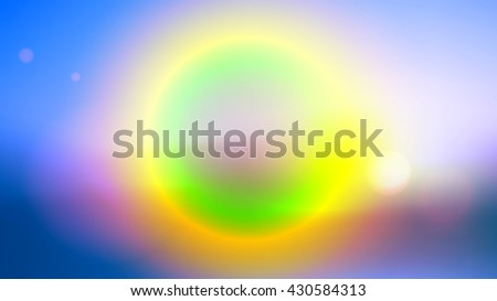 Colorful blurred background with lens effects. Vector illustration.