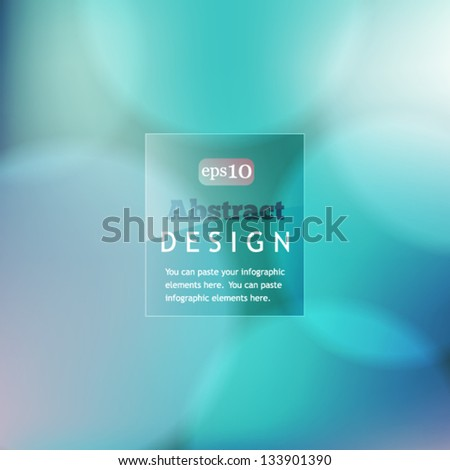Colorful bokeh abstract background with circles of light - stock vector