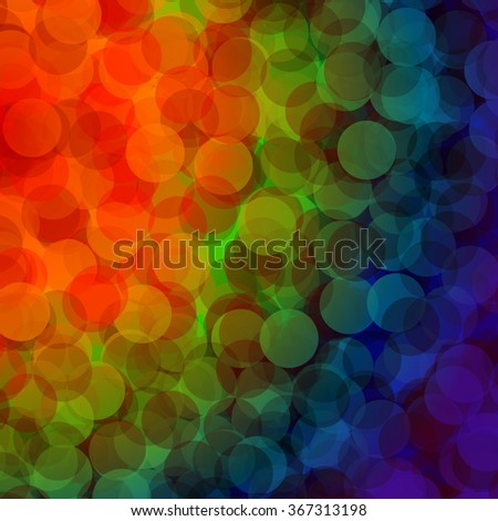 Colorful bokeh abstract light background - Vector illustration - stock vector