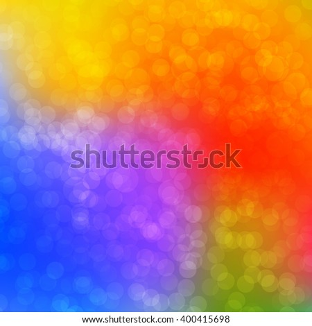 Colorful Bokeh background with defocused lights. Vector illustration EPS10. Design for your cards, brochures, cover, flyers, banners, posters etc. - stock vector